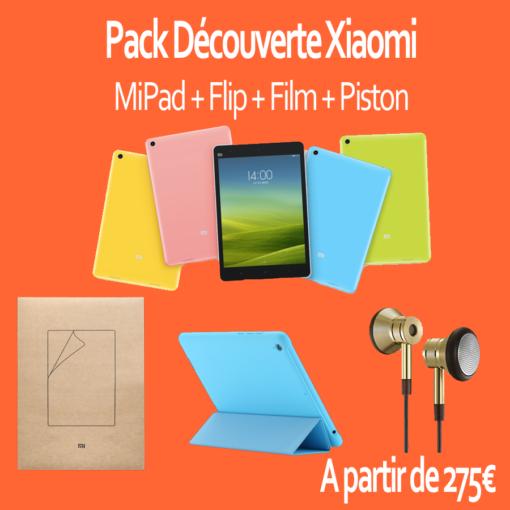 Pack découverte : Xiaomi MiPad 64Gb (Flip, Film, Piston) ()