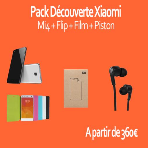 Pack découverte : Xiaomi Mi4 Lite 16GB (Flip, Film, Piston) ()