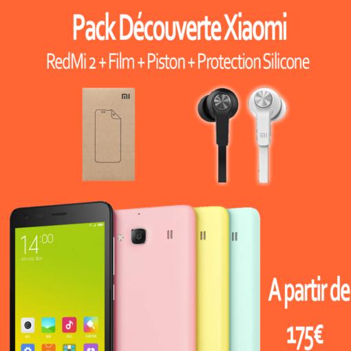 Pack découverte : Xiaomi RedMi 2 (Film, Piston) ()