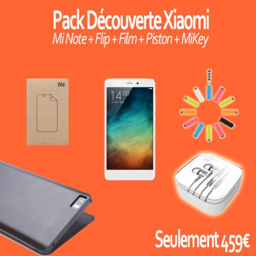 Pack découverte : Xiaomi Mi Note (Flip, Film, Piston, Mikey) ()