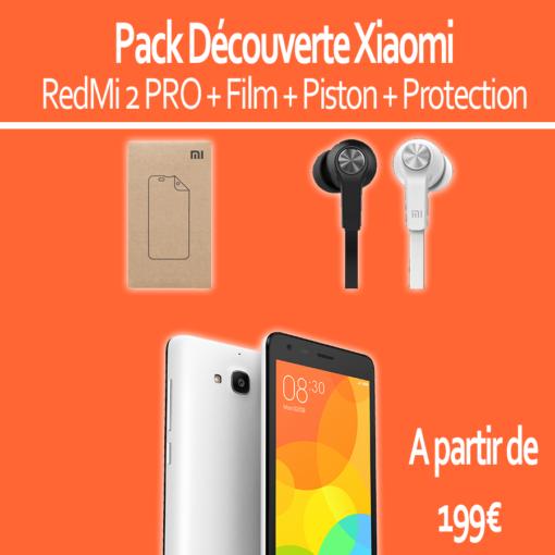 Pack découverte : Xiaomi RedMi 2 PRO (Film + Piston) ()