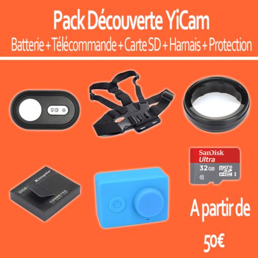 Pack découverte : Xiaomi YiCam (Batterie, Télécommande, Carte SD, harnais, Protection) ()