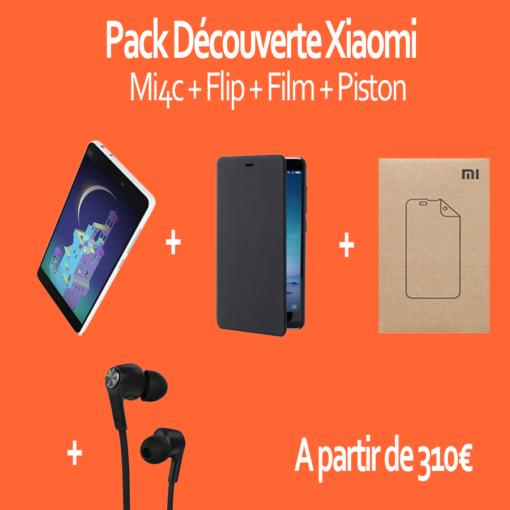 Pack découverte : Xiaomi Mi4c 32GB (Flip, Film, Piston) ()