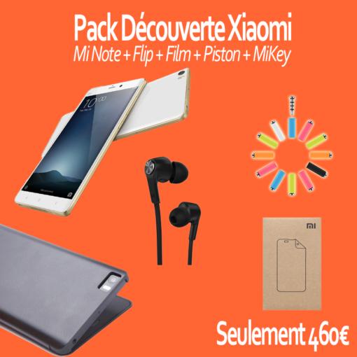 Pack découverte : Xiaomi Mi Note PRO (Flip, Film, Piston) ()