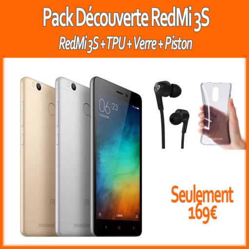 Pack 2017 : Xiaomi RedMi 3S (Verre+ Piston + TPU) ()