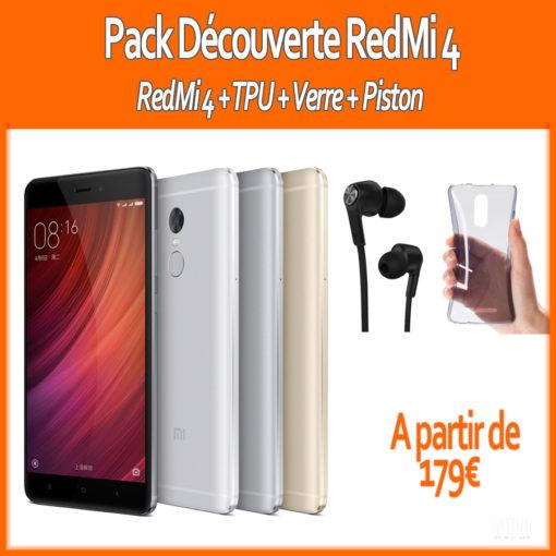Pack 2017 : Xiaomi RedMi 4 (Verre+ Piston + TPU) ()