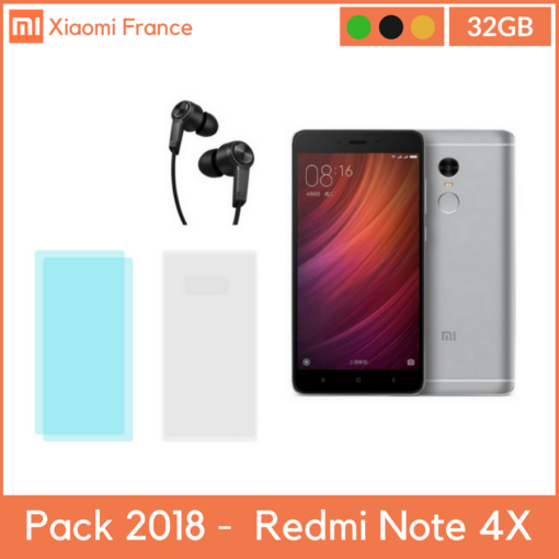 Pack 2018: Xiaomi RedMi Note 4X (3GB/32GB) (Verre + TPU + Piston) ()