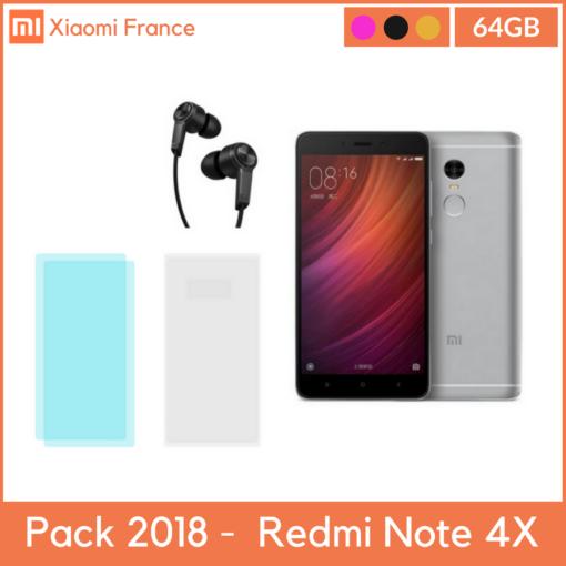 Pack 2018: Xiaomi RedMi Note 4X (4GB/64GB) (Verre + TPU + Piston) ()