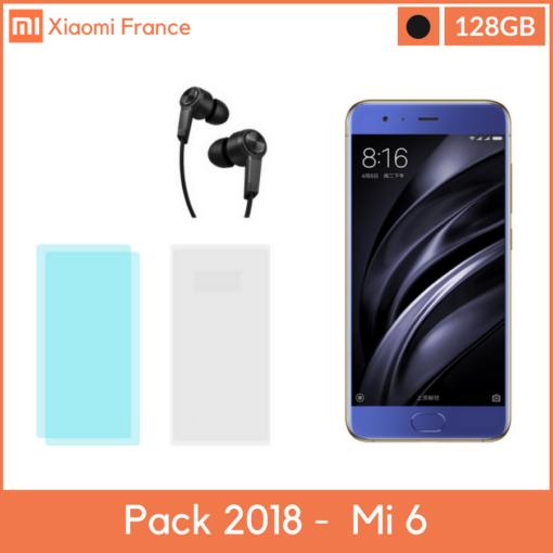 Pack 2018: Xiaomi Mi6 128GB Céramique (Verre + TPU + Piston) ()