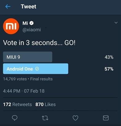 Les fans de Xiaomi préfèrent Android One à MIUI 9, la marque est en colère ! ()