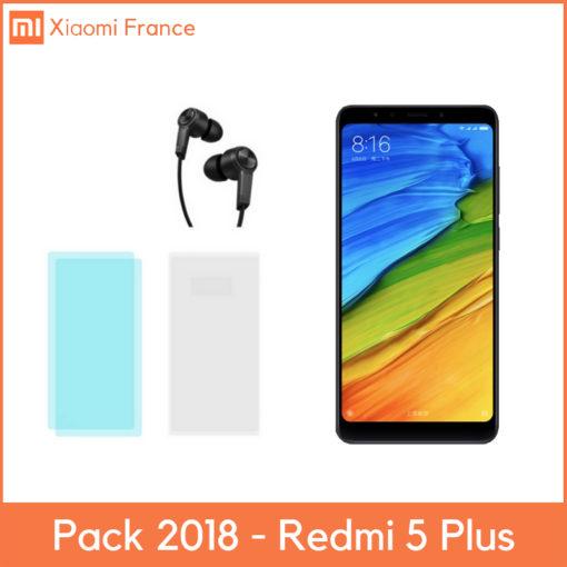 Coffret Xiaomi Redmi 5 Plus (Verre + TPU + Piston) ()