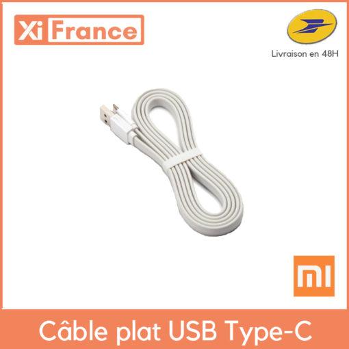 """Xiaomi Cable USB """"Type C"""" plat de 120cm ()"""