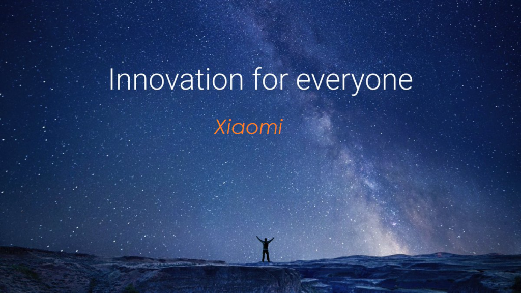 Innovation for everyone xiaomi