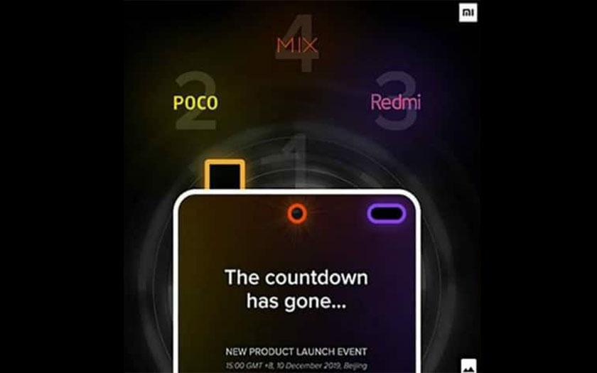 Xiaomi smartphones Pocophones F2 Mi Mix 4 et Redmi K30