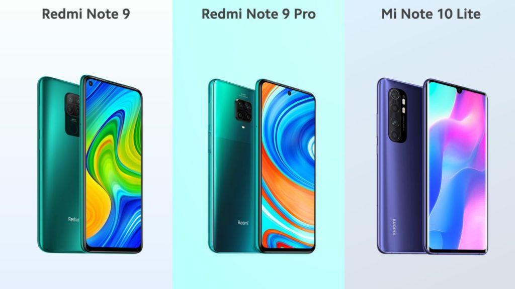 Redmi Note 9, Redmi Note 9 Pro et Mi Note 10 Lite : du nouveau (encore) chez Xiaomi ! ()
