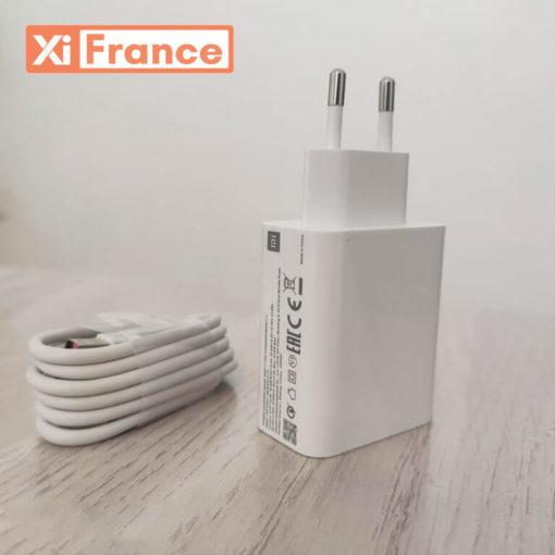 chargeur poco x3 avec cable
