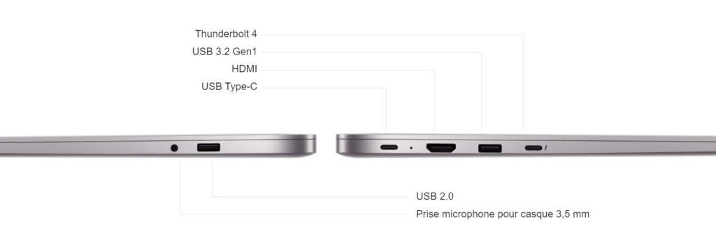 RedmiBook Pro Connectiques