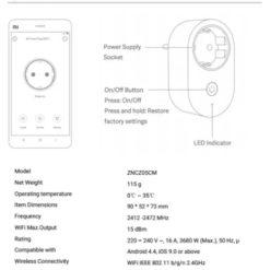 Prise Connectee Xiaomi specs